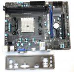 MSI FM2-A55M-E33 AMD FM2 használt alaplap DDR3 PCI-e HDMI