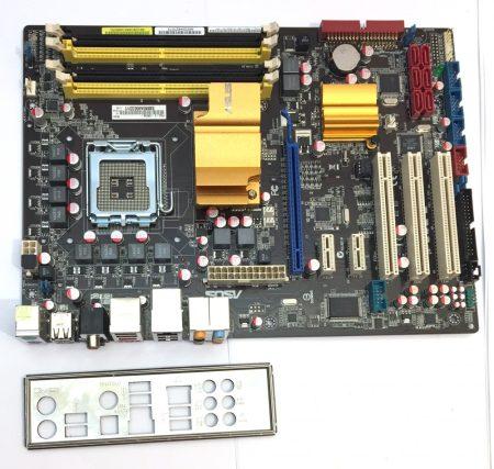 Asus P5QL-E LGA775 használt alaplap DDR2 P43 Express Chipset