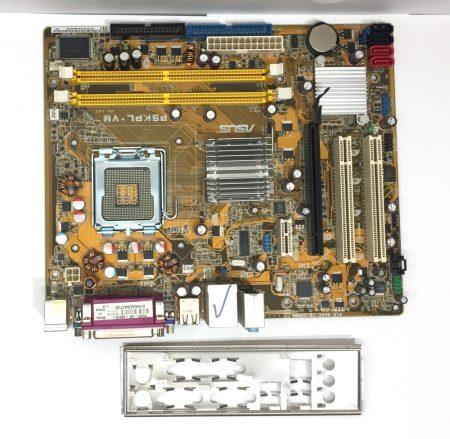 Asus P5kPL-VM LGA775 használt alaplap G31 DDR2 PCI-e integrált VGA