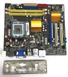 Asus P5kPL-VM EPU LGA775 használt alaplap G41 DDR2 PCI-e integrált VGA HDMI