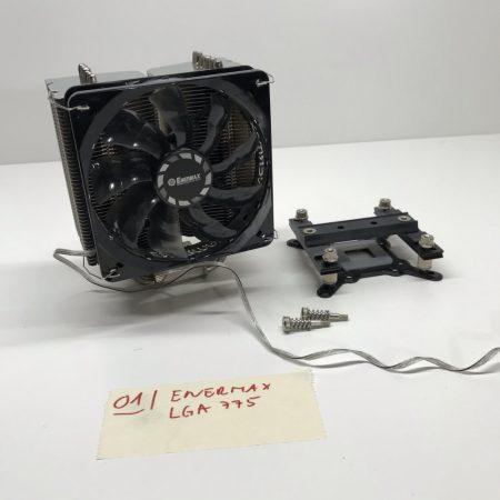 Enermax LGA775 hőcsöves processzor CPU Torony Hűtő 12cm