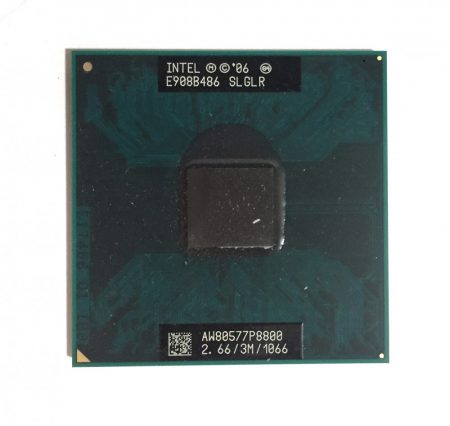 Intel Core 2 Duo P8800 laptop processzor CPU 2.66Ghz 1066Mhz FSB 3Mb L2 Socket P