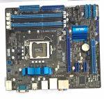 Asus P7P55D-M LGA1156 használt alaplap P55 PCI-e DDR3 1. gen.