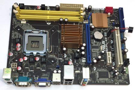Asus P5kPL-AM SE  LGA775 használt alaplap DDR2 G31 Chipset DDR2 PCI-e SATA integrált videokártya