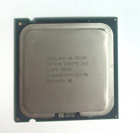 Intel Core 2 Duo E8200 2,66Ghz 2 magos Processzor CPU LGA775 1333Mhz FSB 6Mb L2 SLAPP