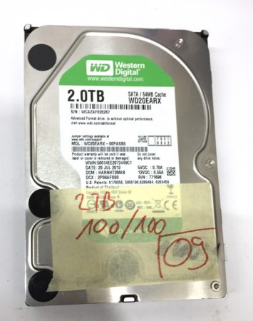 """WD 2Tb 2000Gb SATA HDD merevlemez 3,5"""" 5400rpm használt 100/100"""