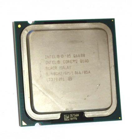 Intel Core 2 Quad Q6600 4 magos 2.40Ghz CPU Processzor LGA775 1066Mhz FSB 8Mb L2 SLACR SL9UM