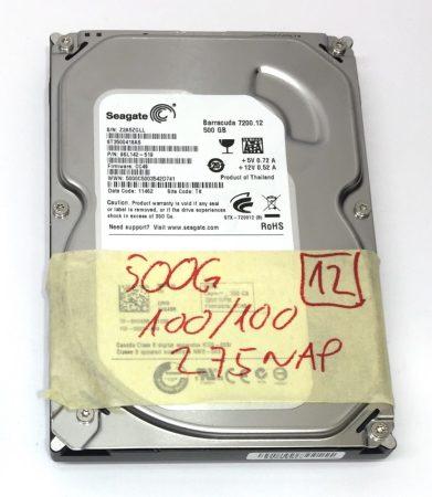 """Seagate 500Gb SATA HDD merevlemez 3,5"""" 7200rpm használt 100/100"""