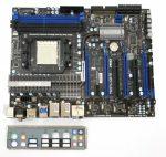 MSI 790FX-GD70 AMD AM3 használt alaplap 790FX DDR3 4db PCI-e x16 8db SATA