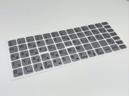 Magyar ékezetes billentyűzet matrica ezüst szürke Matt 1év 100% kopás garanciával, nagyon jó minőség