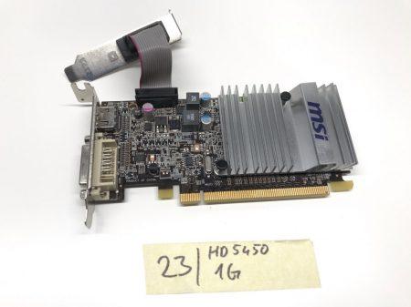 MSI Radeon HD5450 Low Profile hátlap 1Gb használt videokártya GDDR3 64bit PCIe HDMI R5450-MD1GD3H/LP